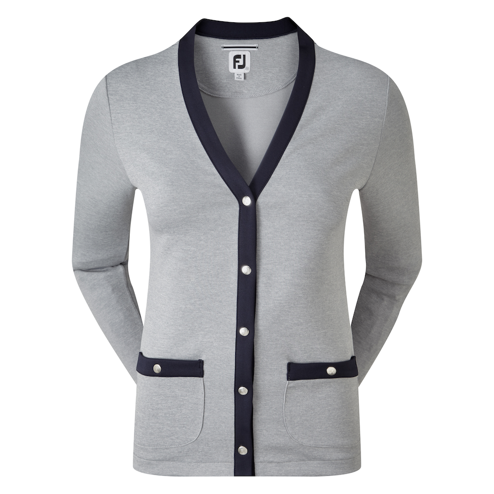 Peysa Women's Jersey Fleece Cardigan with Snap Placket
