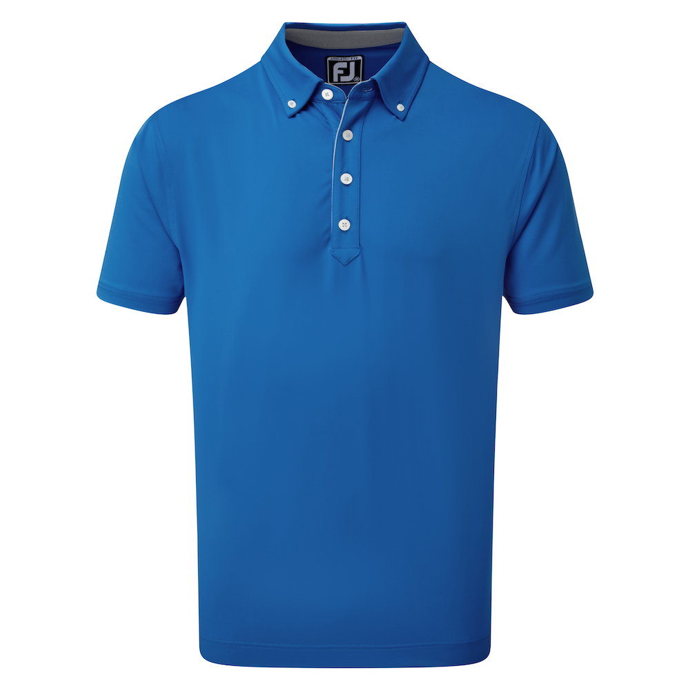 Póló Bolur Lisle Solid with Contrast Trim and Button Down Collar