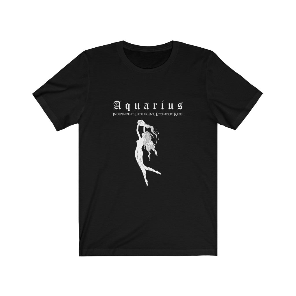 Aquarius Unisex Short Sleeve Tee - Naima The Sun Goddess