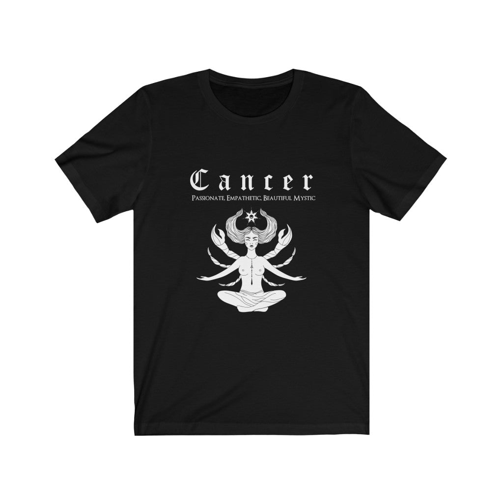 Cancer Unisex Short Sleeve Tee - Naima The Sun Goddess