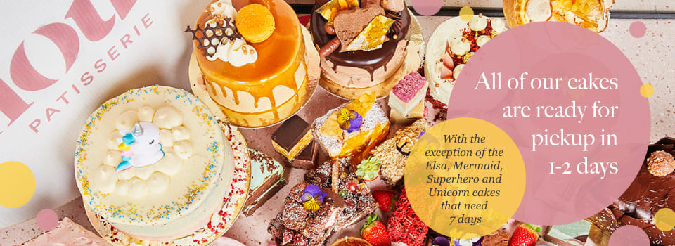 Cake collection for Flour Patisserie