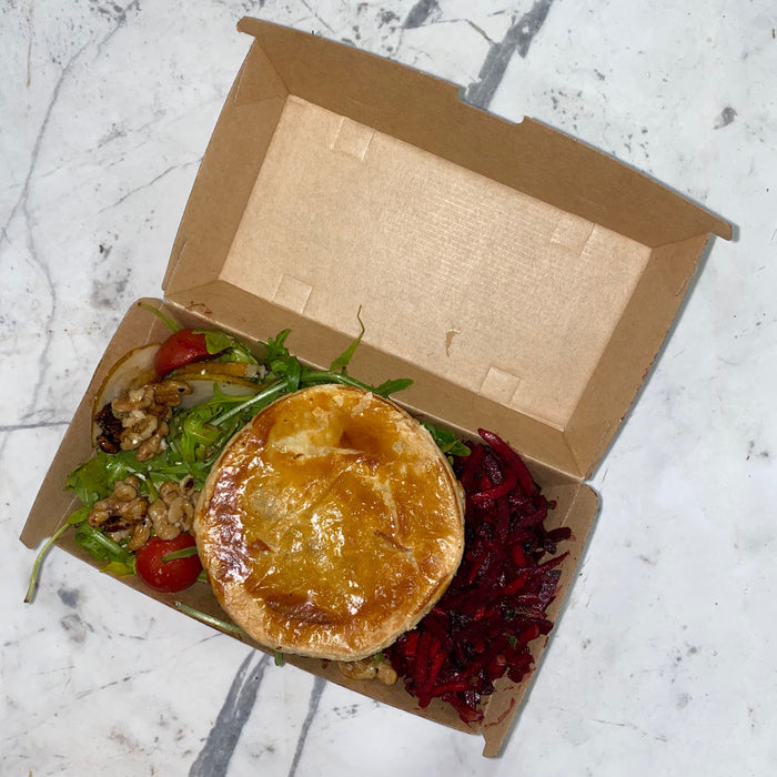 Pie and salad combo
