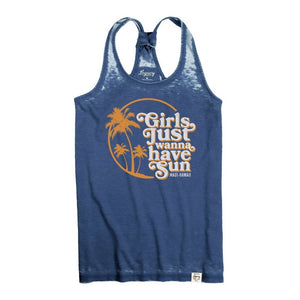 Girls Just Wanna Have Sun Racerback Tank
