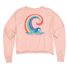 Load image into Gallery viewer, Rejoicing Wave Long Sleeve Crop Top