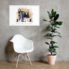 Load image into Gallery viewer, Framed Family Illustration