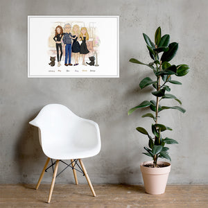 Framed Family Illustration