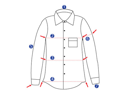 Front shirt measurement