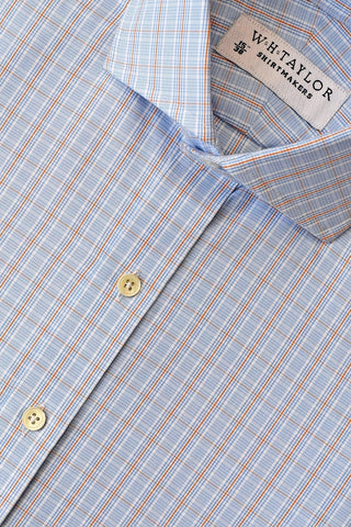 Blue Puppy Houndstooth Check Bespoke Shirt