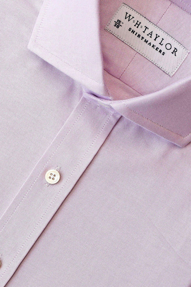 Plain Lilac Oxford Bespoke Shirt-whtshirtmakers.com