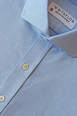 Blue Gingham Check Oxford Bespoke Shirt