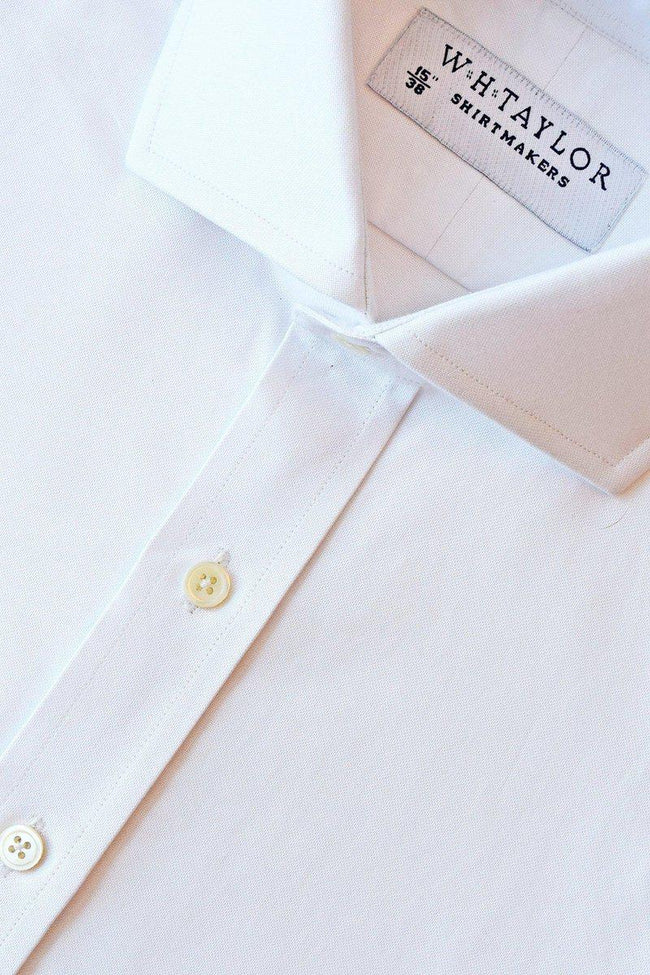 Plain White Oxford Bespoke Shirt-whtshirtmakers.com