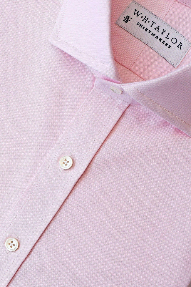 Plain Pink Oxford Bespoke Shirt-whtshirtmakers.com