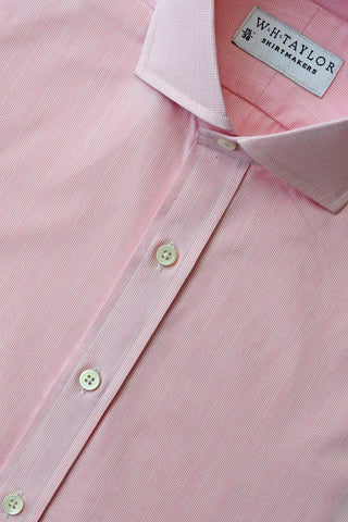 140's Superfine Pink Narrow Stripe Poplin Bespoke Shirt