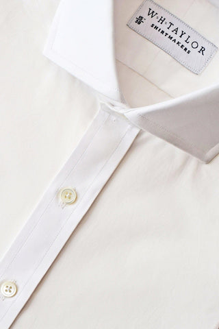200's Ultimate Superfine Plain White Poplin Bespoke Shirt