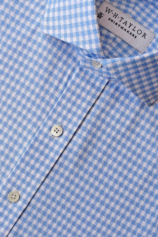 Cerise Crossed Shepherd Check Bespoke Shirt