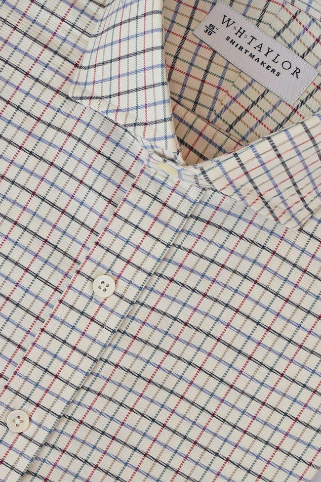 Kendal Polo Green Country Check Bespoke Shirt-whtshirtmakers.com
