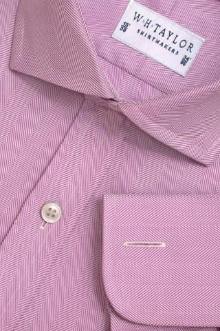 Cream Herringbone Stripe Bespoke Shirt