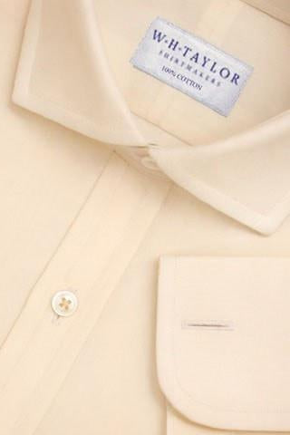 Plain Yellow Poplin Bespoke Shirt-whtshirtmakers.com