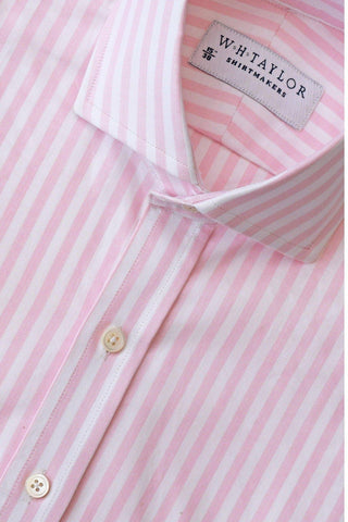 Blue Butcher Striped Poplin Bespoke Shirt
