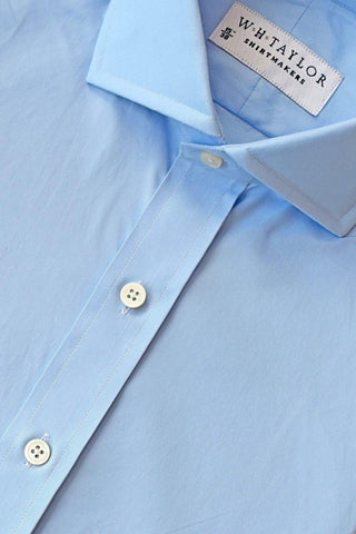 Plain Blue Pinpoint Bespoke Shirt