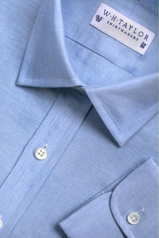 Plain Pink Luxury Linen Bespoke Shirt