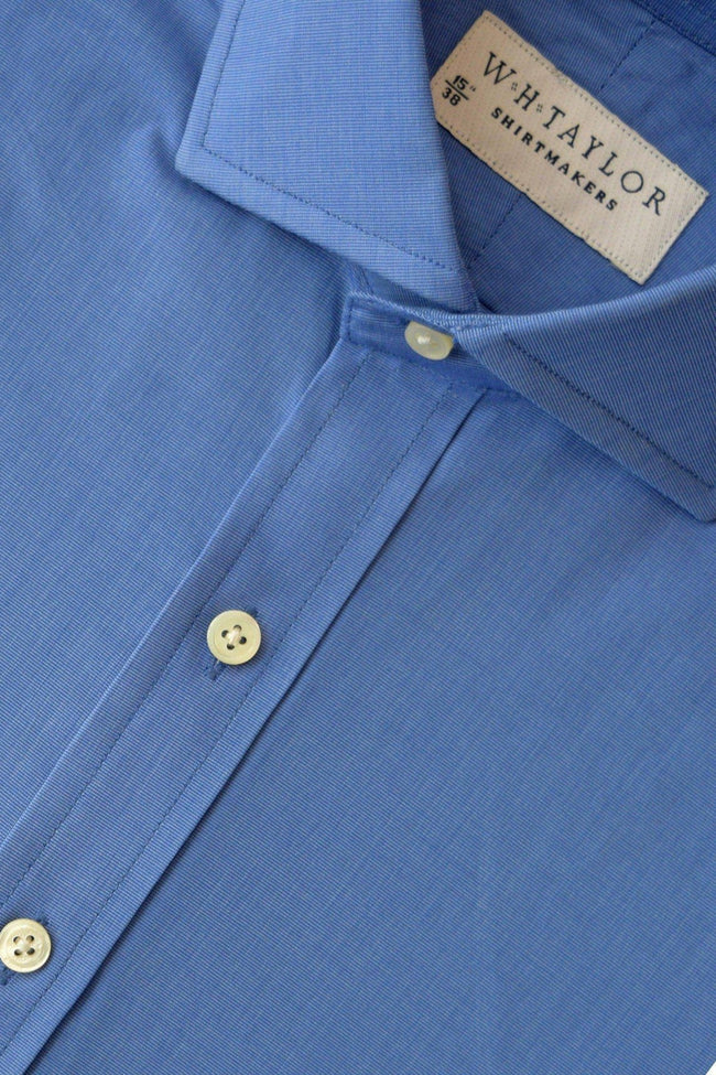 Plain Indigo End On End Bespoke Shirt-whtshirtmakers.com
