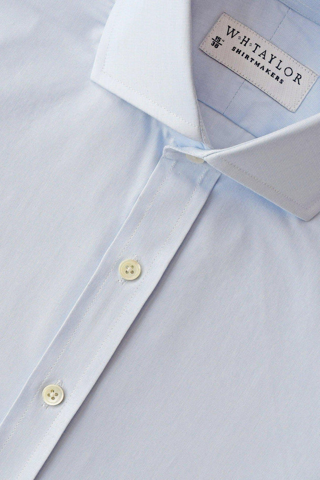 whtshirtmakers.com Bespoke Plain Pale Blue End On End Shirt