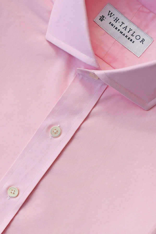 Plain Pink 140's Superfine Bespoke Shirt-whtshirtmakers.com