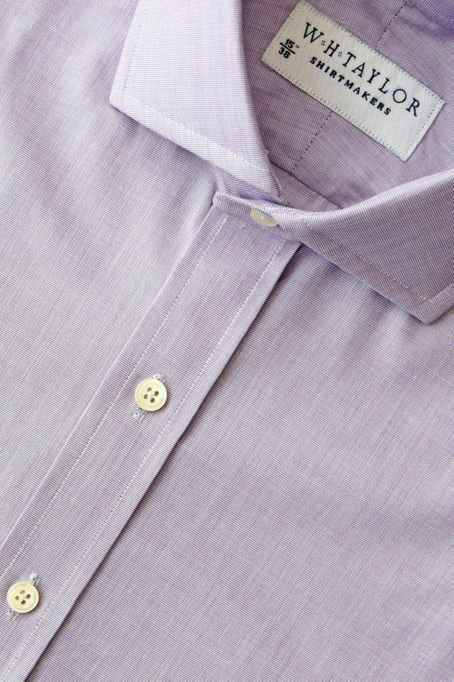 Plain Purple End On End Bespoke Shirt-whtshirtmakers.com