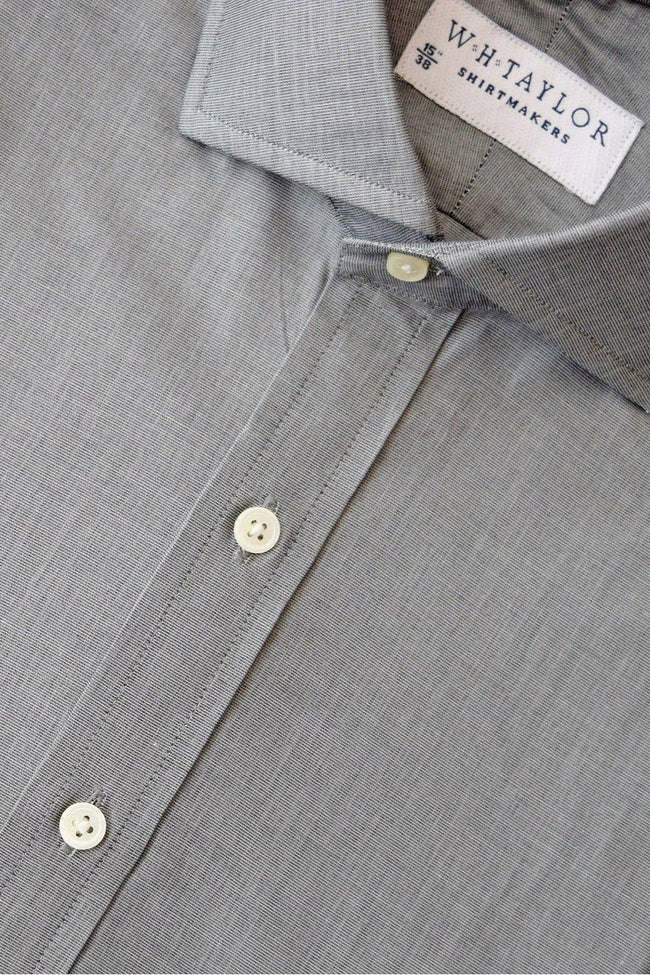 whtshirtmakers.com Bespoke Plain Steel Grey End On End Shirt
