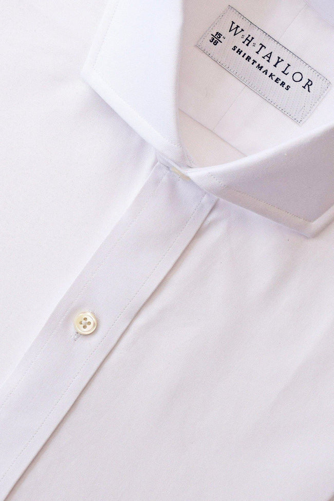 whtshirtmakers.com Bespoke Plain White Pinpoint Shirt