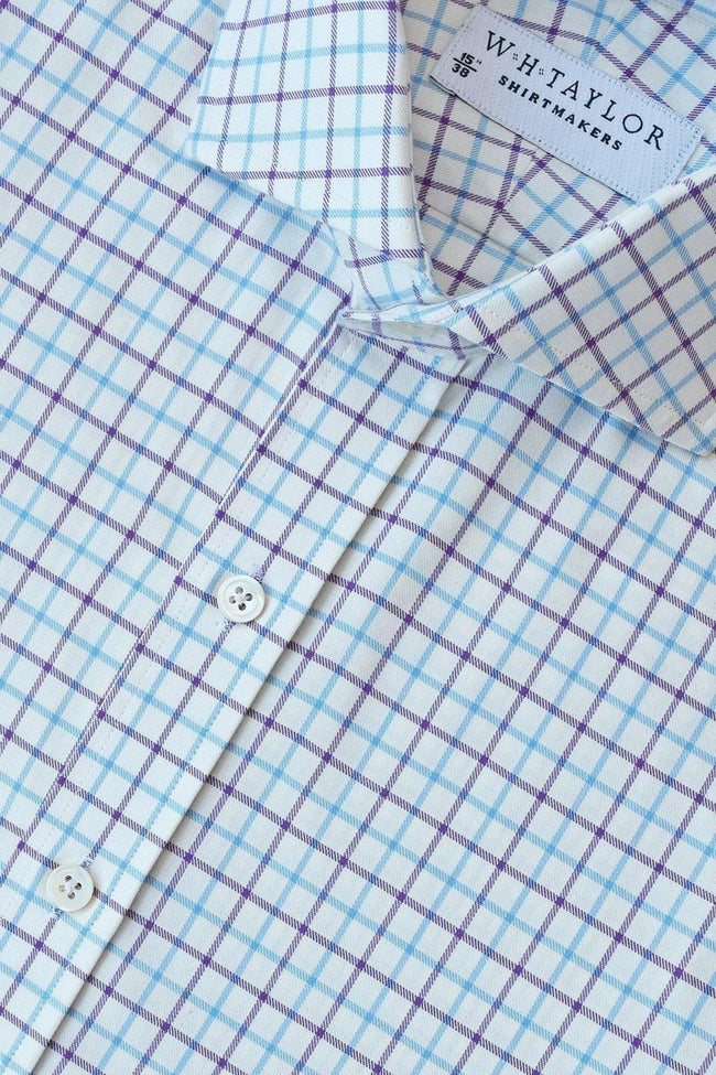 whtshirtmakers.com Bespoke Plum & Sky Country Check Shirt