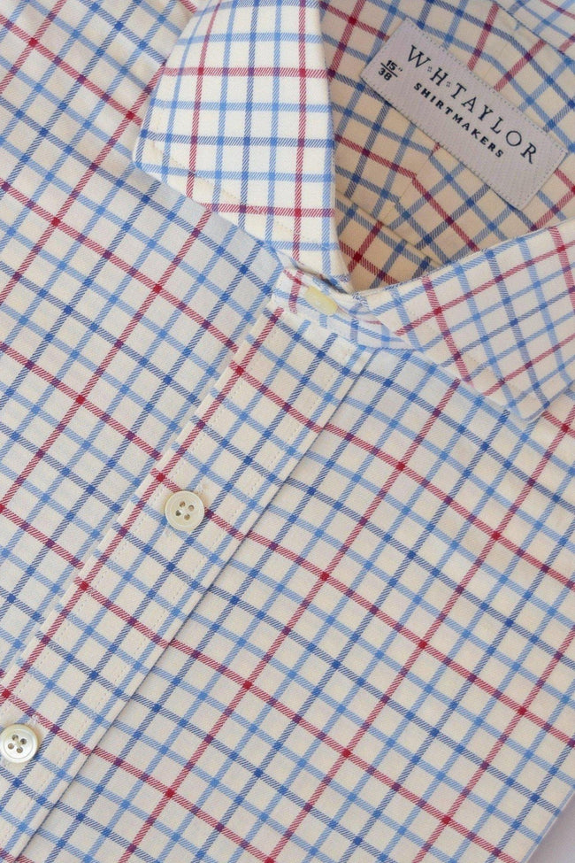 whtshirtmakers.com Bespoke Polo Blue Country Check Shirt