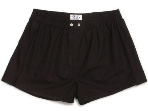 Black Boxer Shorts-whtshirtmakers.com
