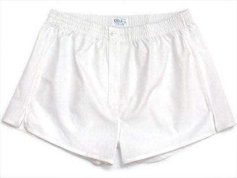 White Boxer Shorts-whtshirtmakers.com