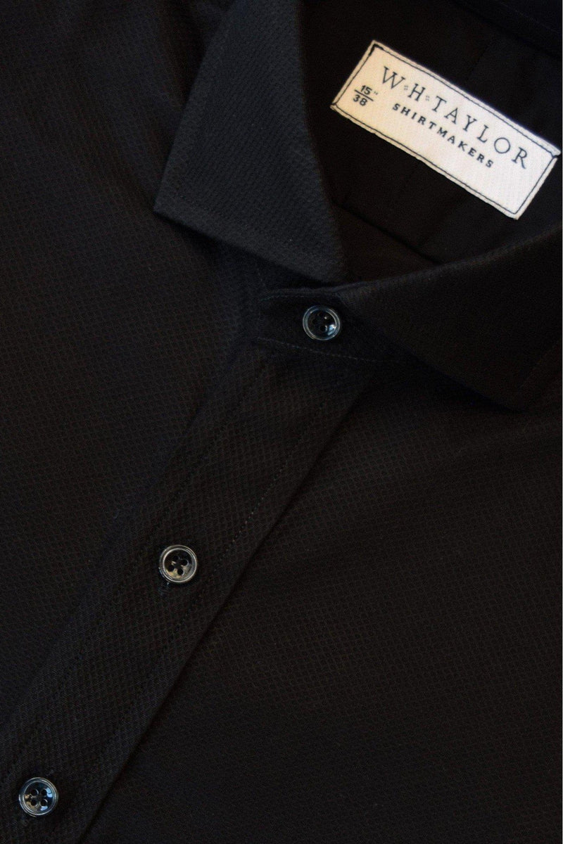 Black Marcella Evening Bespoke Shirt-whtshirtmakers.com