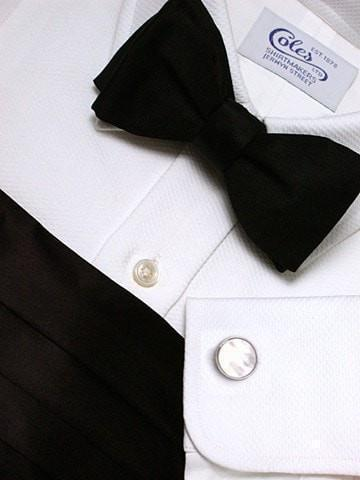Black Lined Twill Cotton Bespoke Shirt