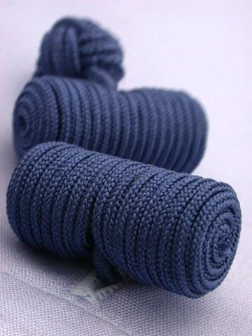 Blue Knotted Barrel Cufflinks-whtshirtmakers.com