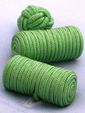 Green Knotted Barrel Cufflinks-whtshirtmakers.com