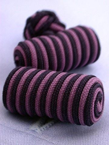 Pink & Navy Knotted Barrel Cufflinks