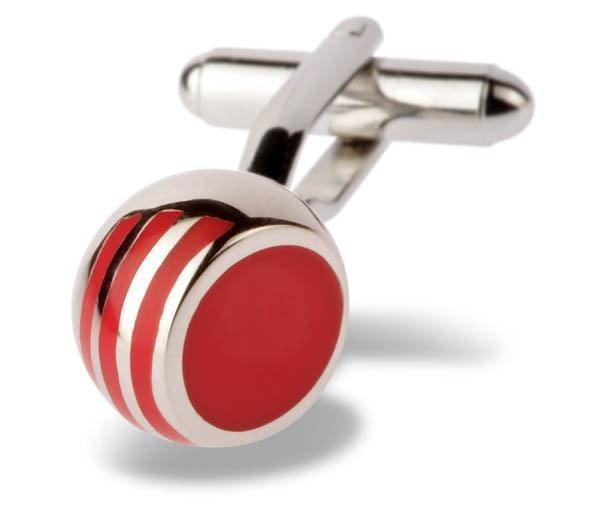 Red Angled Ball Cufflinks-whtshirtmakers.com