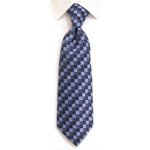 Handmade Navy & Blue Regimental Stripe Silk Tie