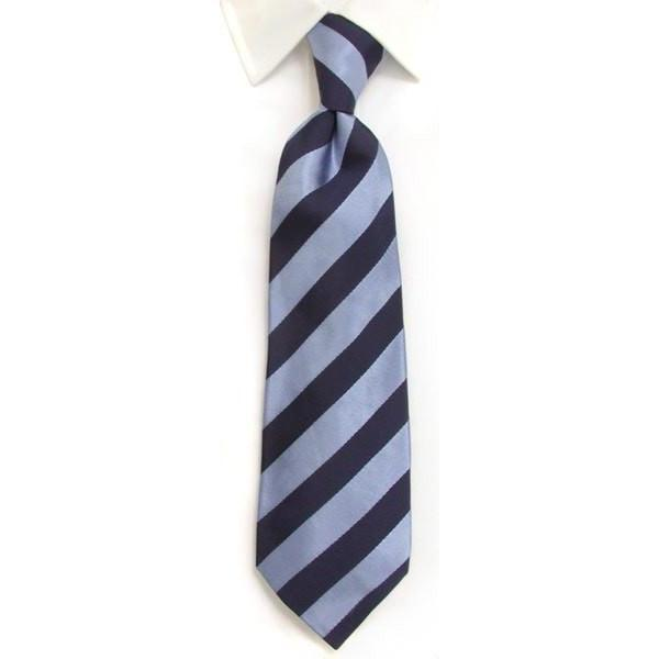 whtshirtmakers.com Handmade Woven Silk Ties Handmade Navy & Blue Regimental Stripe Silk Tie