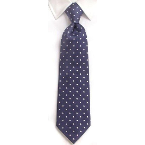 Handmade Navy & Green Diamond Check Silk Tie