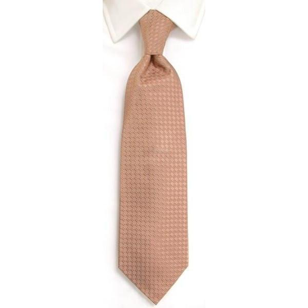 Handmade Tan Plain Silk Tie-whtshirtmakers.com