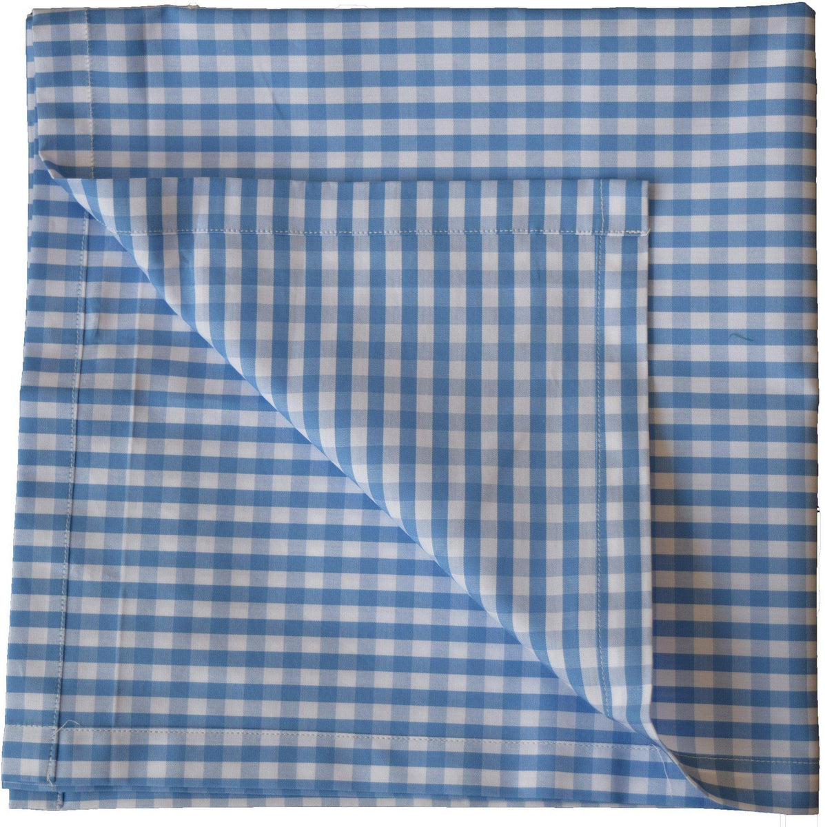 Large Blue Small Gingham Handkerchief-whtshirtmakers.com