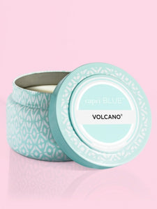 Aqua Printed Travel Tin- Volcano