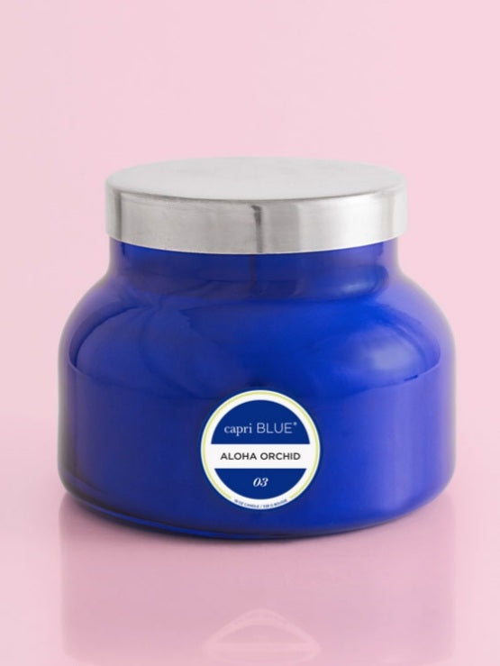Blue Signature Candle- Aloha Orchid
