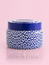 Load image into Gallery viewer, Printed Travel Tin Candle- Blue Jean