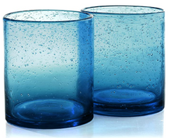 Turquoise Old-Fashioned Glasses